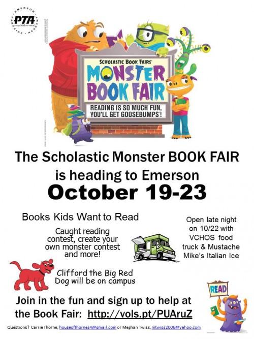 10-7 book fair flyer
