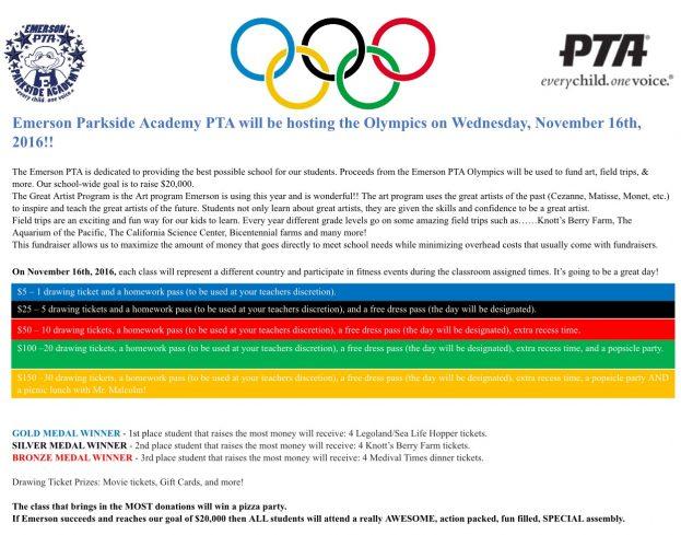 Emerson PTA Olympics