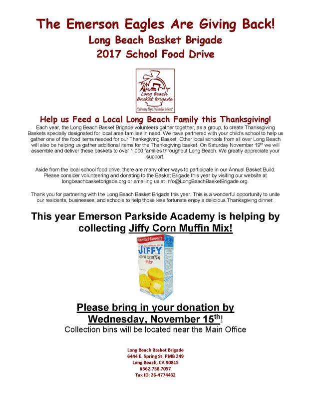 School Food Drive Flyer